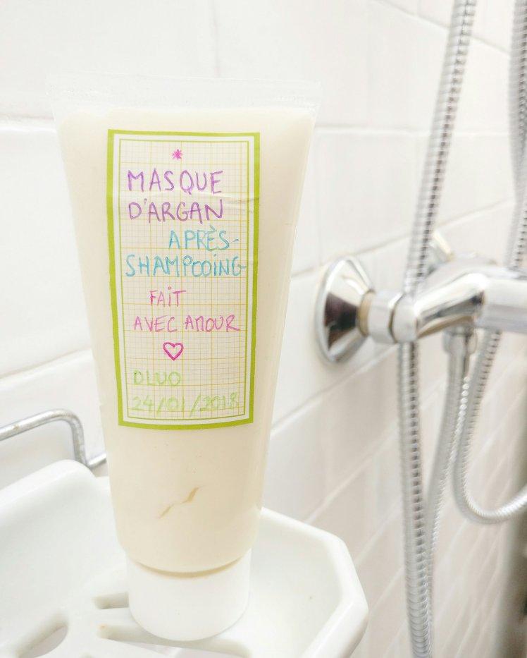Mon super masque d'argan après-shampooing fait maison, naturel et bio !